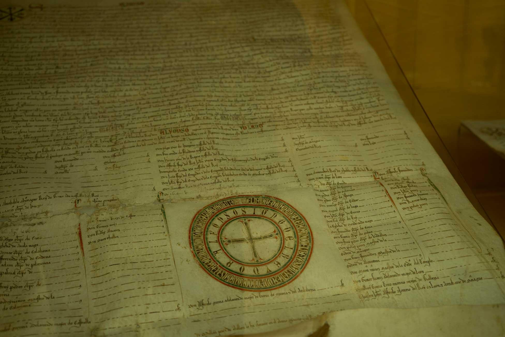 Documentos históricos en el Archivo