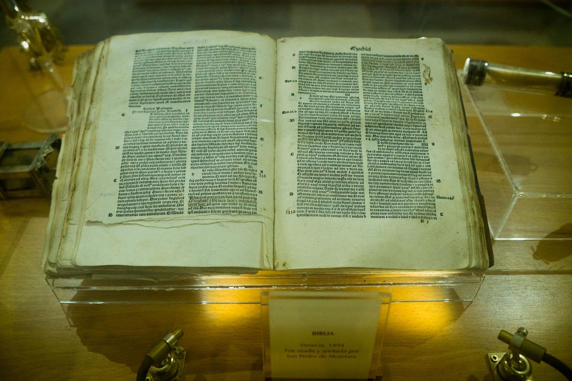Saint Benito's personal Bible