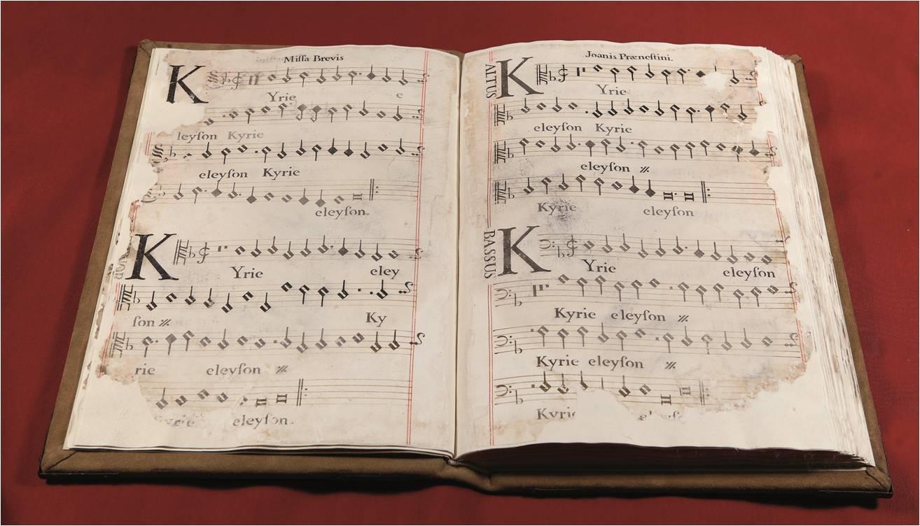 Juan Palestrina Choir book from the Sixteenth Century