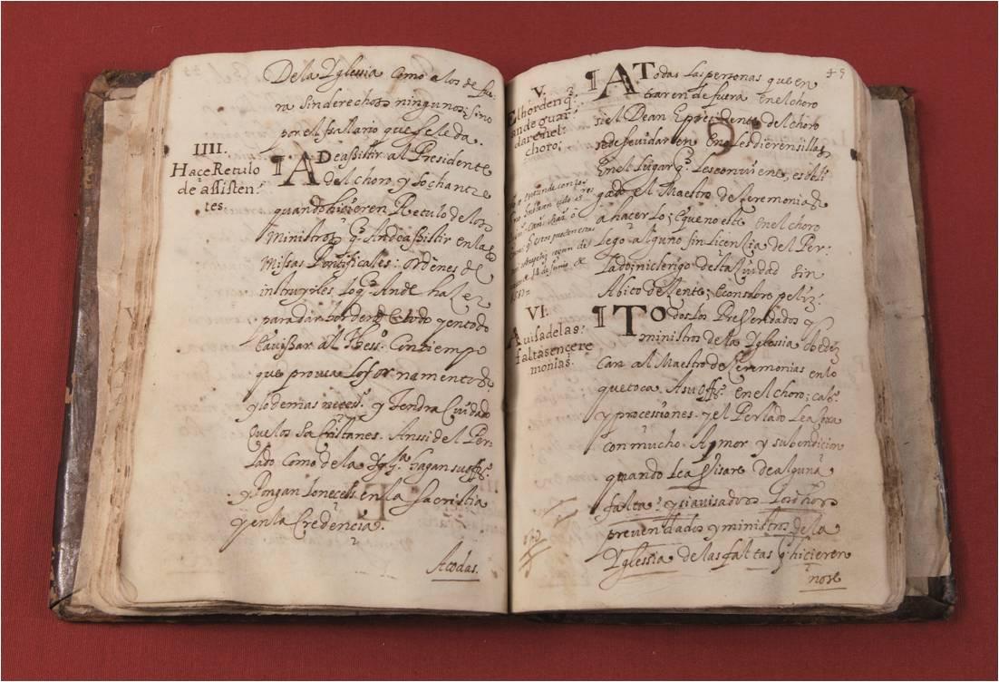 Bishop Galarza's statutes from 1586